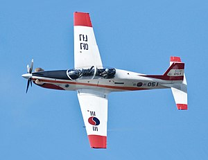 Demonstration Flight of ROKAF New Light Trainer KT-1 'Woongbi'(cropped).jpg