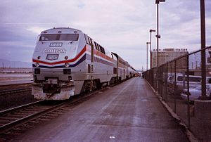 Amtrak P40DC #832 pulling the now-discontinued...