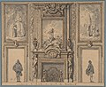 Design for a Wall Decoration with Chimneypiece and Two Figures MET DP807383.jpg