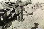 Destroyed 4.7 inch gun at Anzac 1915 AWM P02226.029.jpg