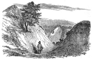 Devil's Dyke, Cambridgeshire - View Looking Towards Woodditton (1853)