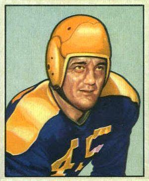 Dick Wildung - Wildung on a 1950 Bowman football card