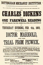 Charles Dickens  Wikipedia Poster Promoting A Reading By Dickens In Nottingham Dated  February   Two Months Before He Suffered A Mild Stroke Company For Writing Research Uk also Examples Of A Thesis Statement For A Narrative Essay  Sample Essay Paper