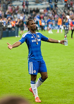 2012 UEFA Champions League Final - Didier Drogba scored the equalising goal and the winning penalty.