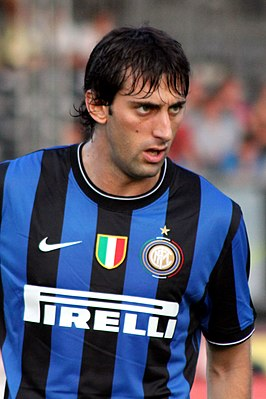 Milito in het shirt van Inter in 2009.