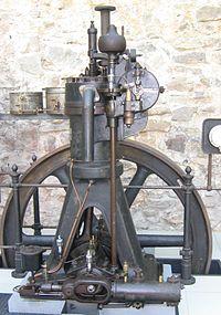 Дизельный двигатель Википедия Стационарный одноцилиндровый дизельный двигатель Германия Аугсбург 1906