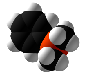 Dimethylphenylphosphine - Image: Dimethylphenylphosph ine Space Fill