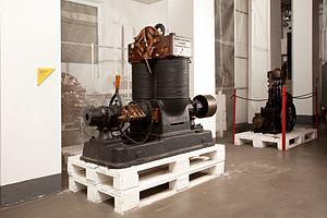Edison (company) - Vertical dynamo Jumbo type (Santa Radegonda). Museo nazionale della scienza e della tecnologia Leonardo da Vinci, Milan.