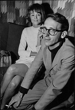 Agneta Ekmanner med magen Jonas Cornell 1967.