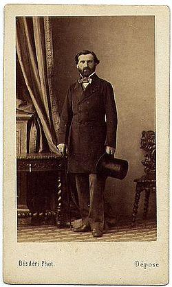 Photographie de Giuseppe Verdi par Disdéri.