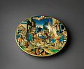 Dish with The Woman of Sestos and the Eagle and arms of the Pucci family MET DP-126-001.jpg