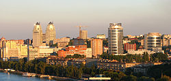 Skyline of Dnipro