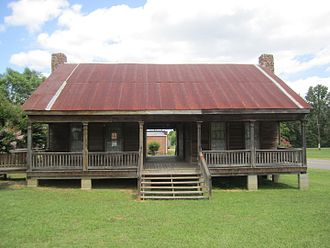 Dogtrot house - A mid-19th-century dogtrot house in Dubach, Louisiana.