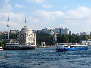 Kabataş, Beyoğlu - View of Kabataş from the Dolmabahçe Mosque.
