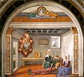 Domenico Ghirlandaio - Announcement of Death to St Fina - WGA08755.jpg