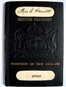 Independence of new zealand wikipedia an old new zealand passport 1949 bearing the title british passport with dominion of new zealand underneath ccuart Images