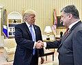 Donald Trump and Petro Poroshenko in the Oval Office, June 2017 (1).jpg