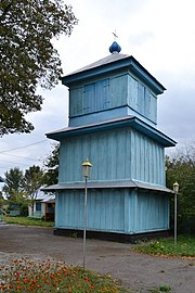 Dovhiv Gorokhivskyi Volynska-Bell tower of Saint Michael Church-north west-view.jpg