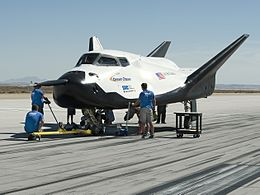Dream Chaser flight test vehicle in 2013