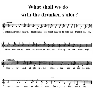 English: Simplified (one voice) music score fo...
