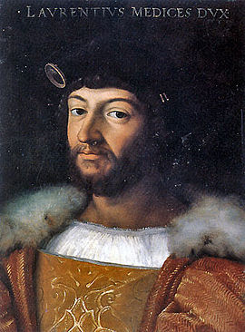 Lorenzo di Piero de' Medici to whom the final version of The Prince was dedicated Duke-Lorenzo.jpg