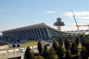 Main terminal of Washington Dulles Internation...