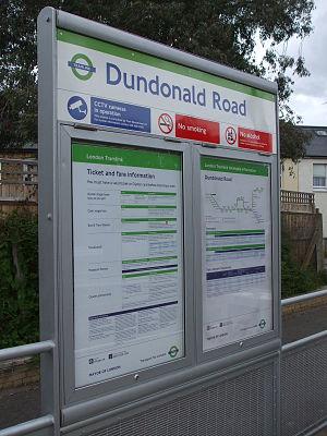 Dundonald Road tram stop - Image: Dundonald Road tramstop signage