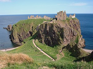 James Francis Edward Keith - Dunnottar Castle, seat of the chiefs of the Clan Keith.  The castle is now in ruins.