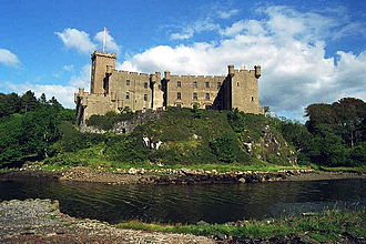 Dunvegan Castle - The south-west face of the castle