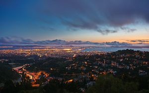 Berkeley Hills - Oakland and the Bay from Grizzly Peak Blvd.