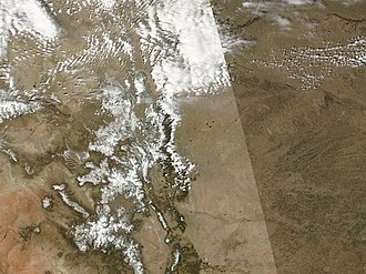 Snowmelt - Image: Dust Reduces Snow Cover in the San Juans 2006