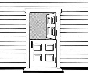 English: Dutch door