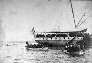 Dutch intervention in Bali (1906) - Image: Dutch troops landing at Sanur 1906