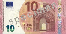 Dix euros, Face recto