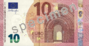 Billet de 10 euros (série Europe, recto).