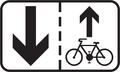 E 16b - Jazda cyklistov v protismere povolená (vzor).png