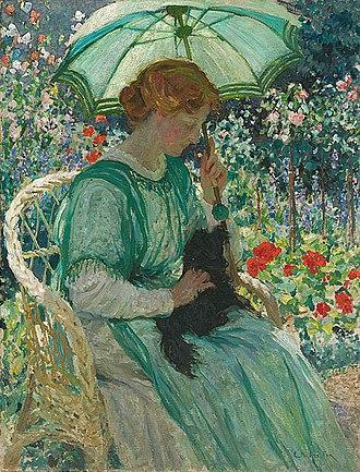 Edith Susan Gerard Anderson - Image: E Phillips Fox The green parasol, 1912