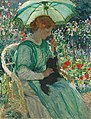 E Phillips Fox - The green parasol, 1912.jpg
