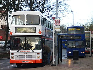 Wilmslow Road bus corridor street in Manchester, United Kingdom