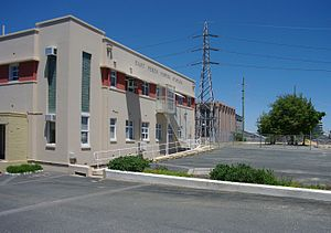 East Perth Power Station - Administration building with generating building in the background