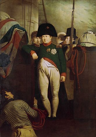 Outlaw - Napoleon Bonaparte on HMS Bellerophon after his surrender to the British in 1815.