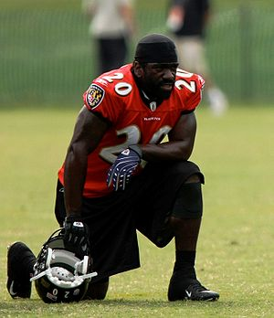History of the Baltimore Ravens - Ed Reed at the Baltimore Ravens 2008 Training Camp.