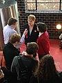 Eddie Izzard and Sarah Sackman at The Bohemia, North Finchley, April 2015 04.jpg