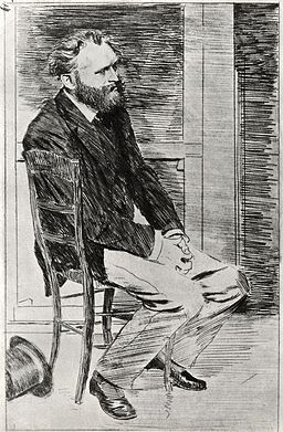 Edgar Degas - Manet Seated, Turned to the Right