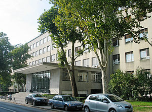 Edo Šen - Image: Edo Šen i Milovan Kovačević Arhitektnski ( Tehnički) fakultet, Kačićeva ulica 26, Zagreb (1938 40.)