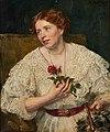 Eduard von Gebhardt Portrait einer jungen Frau mit Rose.jpg