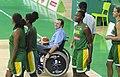 Eduardo Paes de cadeira de rodas inaugura a Arena Carioca 1.jpg