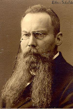 Edward Schröder - Edward Schröder photographed in 1906