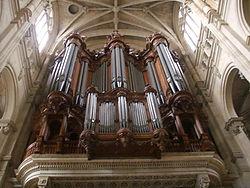 L orgue de l église Saint-Eustache - (reconstruit après l époque de Rameau)