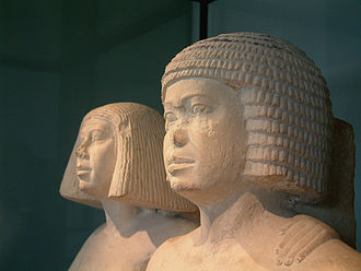Wig - Image: Egypte louvre 286 couple